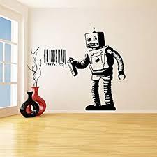 Banksy Vinyl Wall Decal Robot Graffiti / Machine ... - Amazon.com