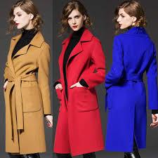 Women Coat <b>2015 Autumn Winter New</b> Fashion Wool Slim Long ...