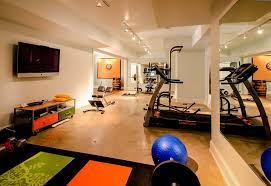 exercise room flooring home gym contemporary with basement gym basement renovation best flooring for home office