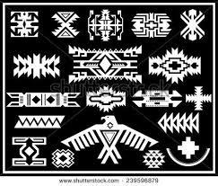 Modern Navajo Indian Designs American Vector Pattern Illustration Set Stock Intended Concept Ideas