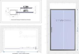 <b>Душевая дверь</b> в нишу STWORKI Стокгольм DE019D2130200 <b>130</b> ...