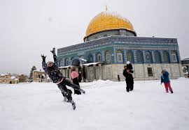 Image result for images of snow in the desert of middle east