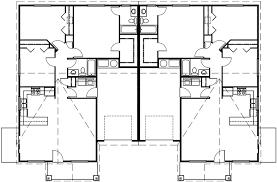 One Level Duplex House Plans  Ranch Duplex House PlansMain Floor Plan for D  One Level Duplex House Plans  Ranch Duplex