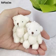 Online Shop 3Pcs 8cm <b>Kawaii</b> Small Teddy Bears Plush Soft Toys ...