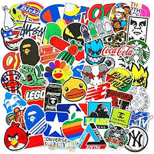 <b>100 Pcs Fashion</b> Brand Cool Stickers for Laptop Stickers Motorcycle ...