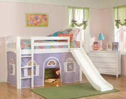 image of kids bunk bed with slide bunk bed deluxe 10th