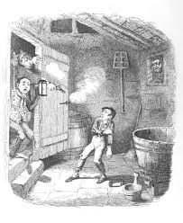 the relationship between oliver twist and the industrial copy of the cruikshank drawing from charles dickens oliver twist