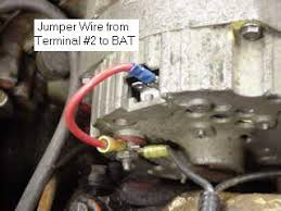 onewirealternator another method is to connect a jumper wire from the sensing terminal 2 to the bat terminal this is the schematic