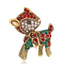 Fashion Diamond-Encrusted Cute Deer Brooch Sale, Price & Reviews