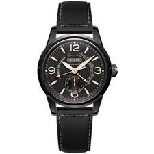 seiko mens watches ssa339j1 presage black stainless steel leather automatic men s watch