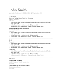 outline outline resume template