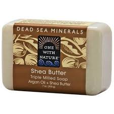 One with Nature, <b>Triple Milled Mineral Soap</b> Bar, Shea Butter, 7 oz ...