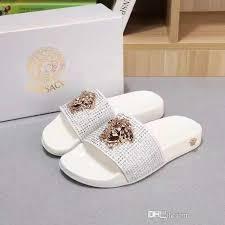2018 <b>new men</b> or women Slippers Black White Slides Sandles <b>Flats</b> ...