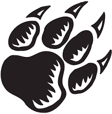 Image result for bear paw prints clip art