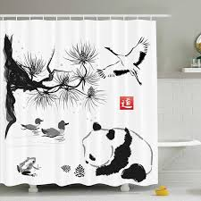 Asian Decor Collection Bird Cedar <b>Panda</b> Bear Traditional ...