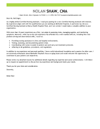 best nursing aide and assistant cover letter examples   livecareeredit