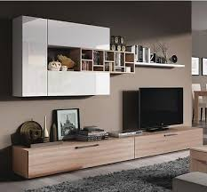 furniture living room wall: ellwood  piece module tv wall unit living room furniture set white on