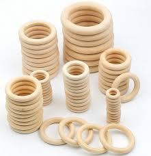 2018 <b>DIY</b> 1-50PCS <b>Wooden Beads Connectors</b> Circles Rings Beads ...