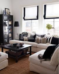 space living ideas ikea: the use of the space is great and the little pops of black everywhere give this