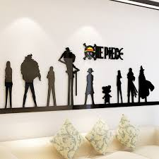 <b>Cartoon anime</b> One Piece <b>3d Wall</b> Sticker Acrylic Living room sofa ...