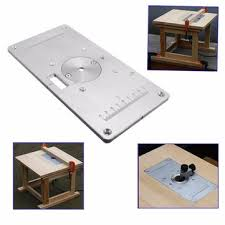 235 120 8mm aluminum router table insert plate wood trimmer for woodworking benches with 4 rings engrving machine