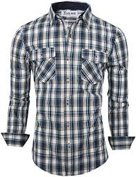 <b>New Men's</b> Long Sleeve Flannel <b>Casual</b> Formal Work Plaid Shirt ...