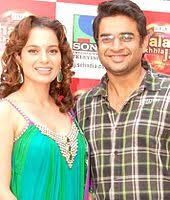 kangana ranaut and r madhavan pose for the camera actress kangana ranaut