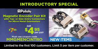 New products: Magnetic Encoder Pair Kit with JST SH-type ... - Pololu