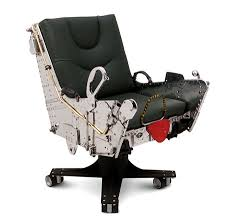 break the sound barrier without ever leaving your office with the f 4 ejection seat our low riding f 4 chair has a custom fabricated aluminum base that is bucket seat desk chair