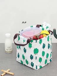 <b>Cartoon Plant</b> Print Portable Lunch Bag <b>1pc</b> #Sponsored ...