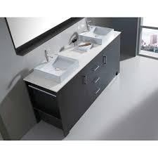 usa tilda single bathroom vanity set: virtu tavian  amp quot double bathroom vanity set with white top and mirror