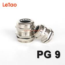 <b>1pc</b>/lot PG9 Nickel Brass cable gland <b>Waterproof</b> metal connector ...