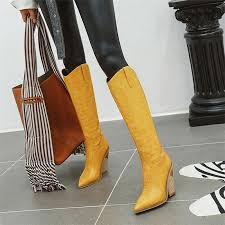 Women Over The Knee High Boots <b>Fashion Pointed Toe</b> Winter ...