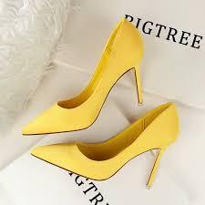 Designer Dress <b>Shoes Women</b> Pumps <b>Flock Women</b> Heels Slip On ...