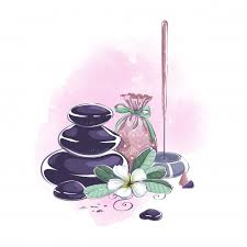 Композиция аксессуаров и предметов для <b>аромамассажа</b>, спа и ...