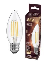 <b>Лампочка</b> светодиодная FILAMENT, свеча E27 5W 4000K <b>DECO</b> ...