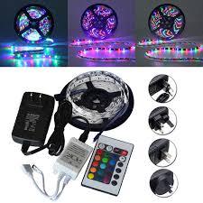 <b>5M</b> SMD 3528 300 <b>Waterproof</b> LED <b>RGB Strip</b> Flexible Light 24 key ...
