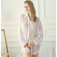 Online Shop Oversize <b>S</b>-<b>5XL Sexy</b> Lingerie Blouse Women Home ...