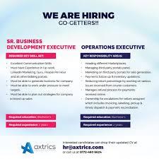 axtrics solutions pvt linkedin hiring jpg