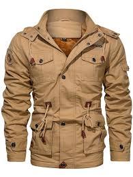Men's <b>Autumn Winter</b> Fashion Plus Velvet Jacket Solid Color Multi ...