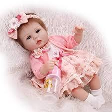 "Pinky Lovely <b>Soft</b> Silicone <b>Vinyl</b> 17"" 43cm <b>Baby Doll</b> Real Life Like ..."