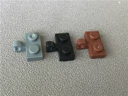 50pcs/<b>lot</b> MOC Bricks 11476 <b>1x2</b> plate modified central clip in Black ...