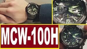 Обзор <b>Casio MCW</b>-<b>100H</b>-<b>3A</b> модуль 5434 - YouTube