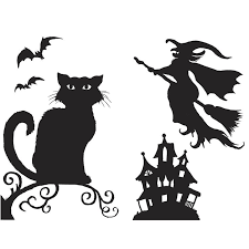 love halloween window decor: halloween silhouette spooky silhouettes for halloween pictures