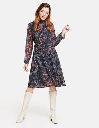 <b>Boho</b>-<b>style</b> pleated dress in Blue | GERRY WEBER
