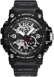 <b>Men's</b> Outdoor Digital Watch DIRAY Dual Time Waterproof ...