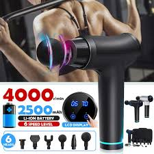 <b>LCD Display Massage</b> Guns Deep Muscle Massager Muscle Pain ...
