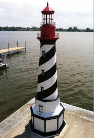 lighthouse yard ornament blue blue and white lawn lighthouse design lighthouse on the dock lighthous