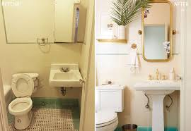 bathroom refresh: bradys bathroom makeover takeover white turquiose gold tile before and after