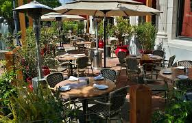 patio dining: dine on our patio outdoor seating in napa valley